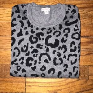 Moving Sale! Merona leopard sweater, small